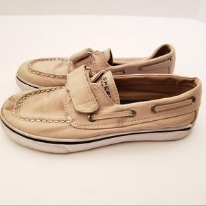Kids Sperry top -sider tan  size 1 Boat shoes